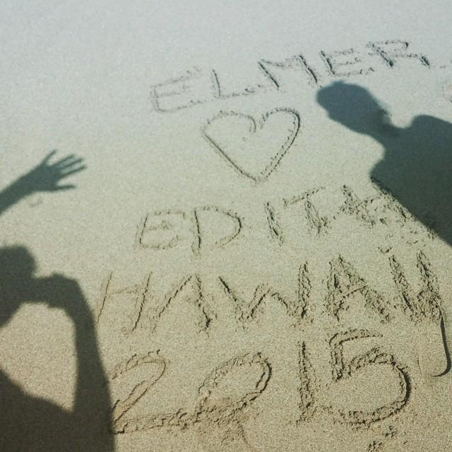 Edith & Elmer were here.