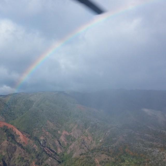 Je struikelt hier over de regenbogen...