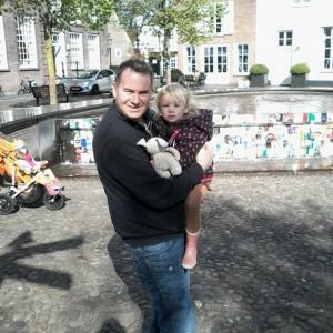 Met ome Marcel in Harderwijk centrum.