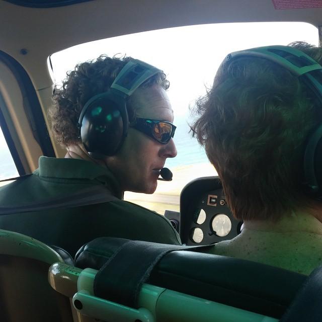 Onze piloot David.