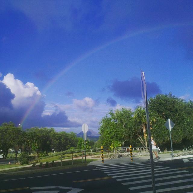 Regenboog geregeld om nog even aan de trouwdag te denken