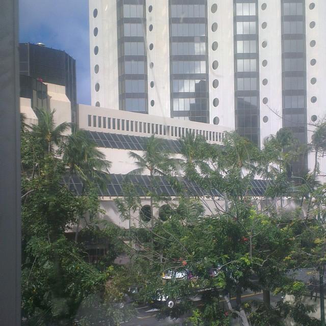 Uitzicht vanaf onze hotelkamer, verschil moet er blijven