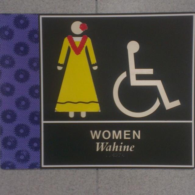 Zo duiden ze in Hawaii de damestoiletten aan.