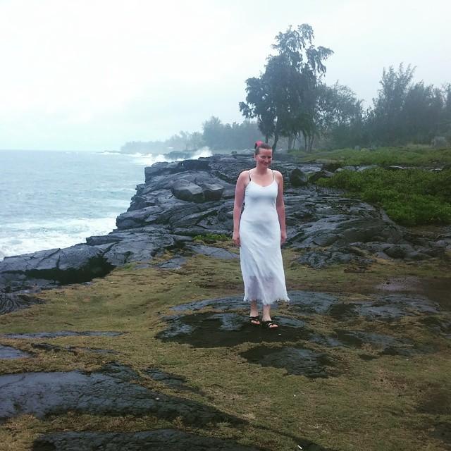 Edith aan de oostkust.