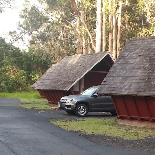 Na het Pahao-spektakel kwamen we aan in onze cabin bij het Volcano House. Een prachtig huisje aan de rand van de krater.