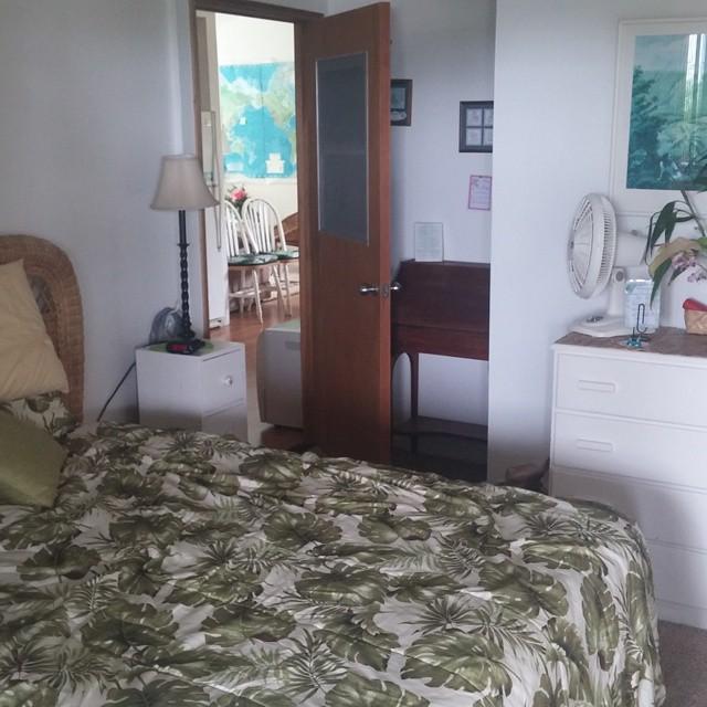 Nog even een foto van onze kamer bij John en Charlotte.
