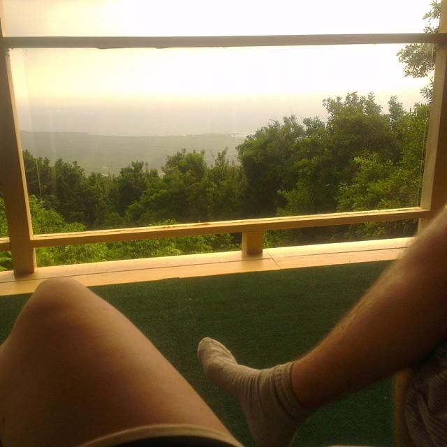 Waar we vanaf de enorme veranda genieten van het uitzicht