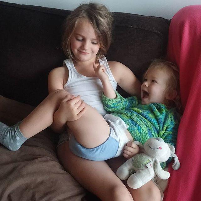 Myrthe met onze grote baby Nova