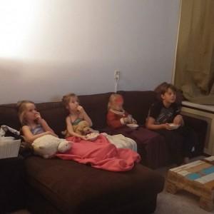 Movienight met popcorn!