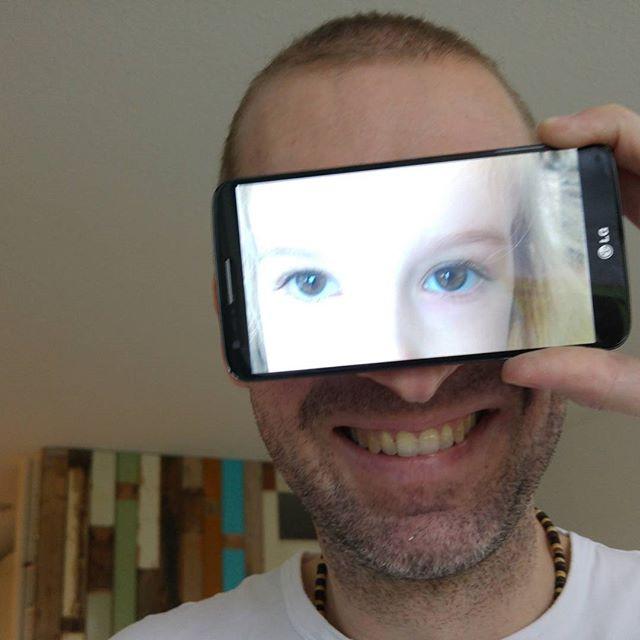 Papa met Lyses ogen
