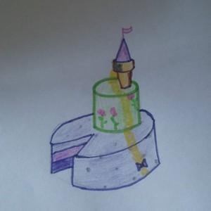 Rapunzel taart!