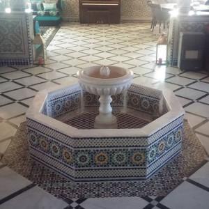 Een fontein midden in het huis