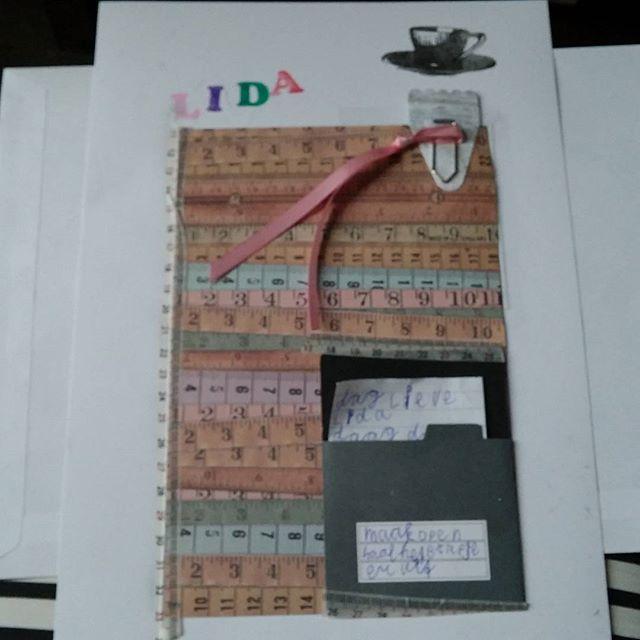 Lyses blad voor in het afscheidsboek voor juf Lida. (blz1)