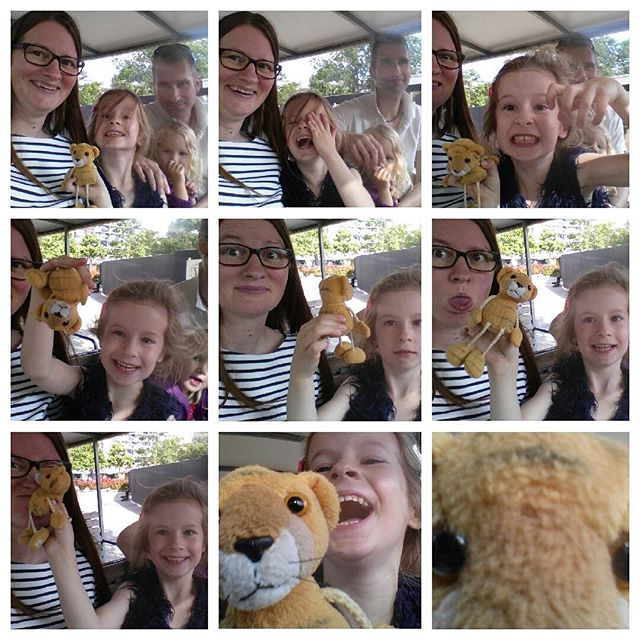 Mama, Lyse en tijgertje doen gek