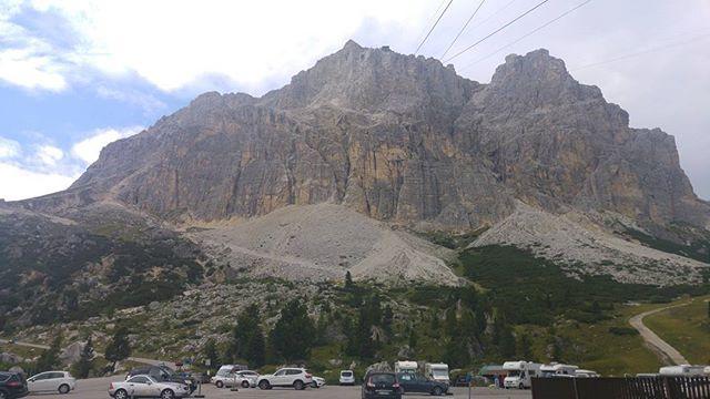 Dezelfde berg als op de kaart, maar dan in het echt.