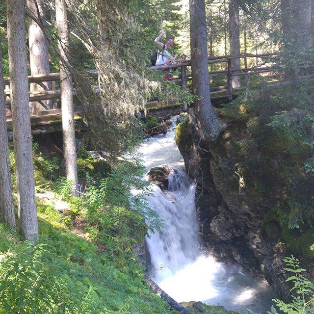 Op weg naar het Adventure Park (dat was dus dinsdag) langs het mooie beekje gelopen dat ook langs onze camping stroompt.