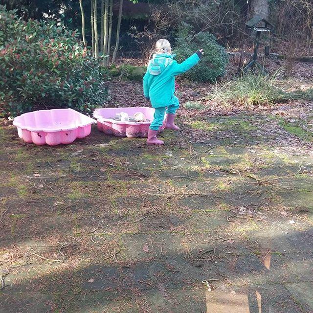 Gister lekker in het boshuisje van tante Ingrid geweest.
