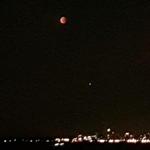 #bloedmaan #maansverduistering en #Mars vanaf Durgerdam